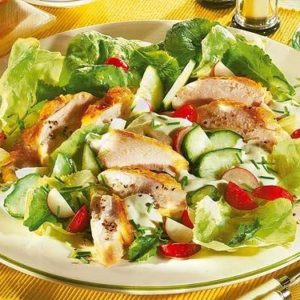 gemischter Salat mit Poulet